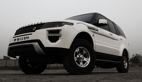 Tata Safari Transformed into Moon Rover Evoque Replica