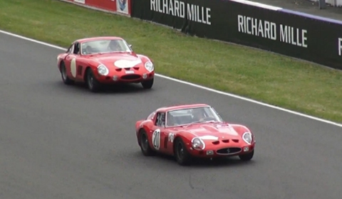 Video 18 Ferrari 250 GTOs in Action at 2012 Classic Le Mans