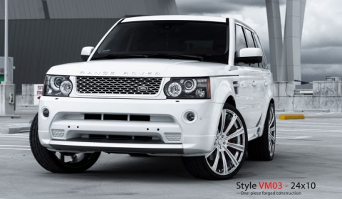 White Range Rover Sport on 24 Inch Monoblock by Vellano Wheels