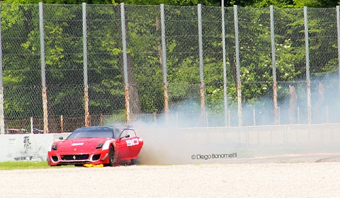 Ferrari 599XX Evolution in Flames