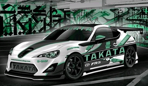 Fox Marketing Releases Render Supercharged Takata Racing FR-S
