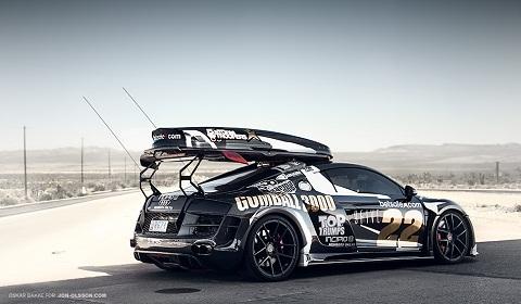 ... - Hd Wallpaper Audi R8 Jon Olsson Ppi Razor Gtr Black Cars Snow Hd