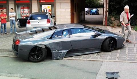 Lamborghini Murcielago LP640 Wrecked in Nurnberg