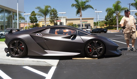 Lamborghini Sesto Elemento Arrives at Lamborghini Newport Beach