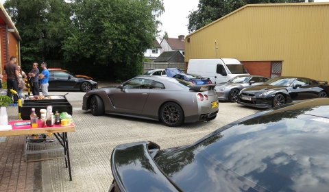 Nissan GT-R Barbeque at Valet Magic Wrap Specialist