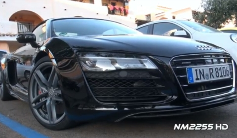Video 2013 Audi R8 V10 Spotted Live in Action
