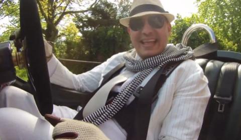 Video Alex Roy Makes Weird Noises While Driving Morgan 3 Wheeler