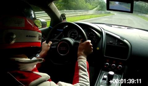 Video Audi R8 E-tron Sets Lap Record on Nurburgring
