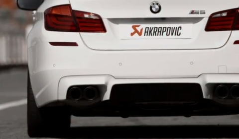 Video BMW F10M M5 with Akrapovic Evolution Exhaust