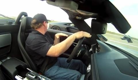 Video One Mile Drag Race Aventador vs SLS AMG Roadster