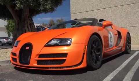 Bugatti on Video  Orange Bugatti Veyron Grand Sport Vitesse At Monterey Car Week