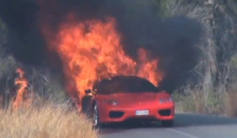 Video Soccer Player Ever Banega Ferrari Burst Into Flames