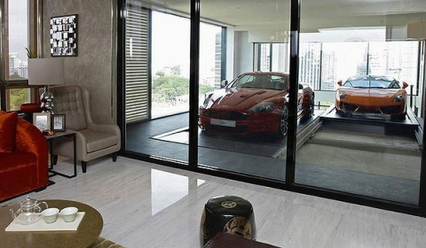 Video Unique Sky Garage Apartments in Singapore