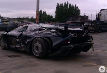 Wrecked Jaguar XJ220