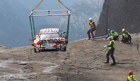 BMW Air Lifts the Jeff Koons M3 GT2 Art Car to Stunning Location!