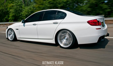 BMW F10 5-Series on 20 Inch SpunForged VS8.2 Morr Wheels