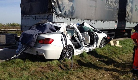 BMW Test Driver Accident