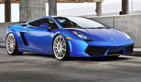 Blue Lamborghini Gallardo on HRE P43SC Wheels