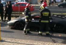 Car Crash Lamborghini Murcielago Crash in Poland