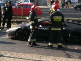 Car Crash Lamborghini Murcielago Crash in Poland