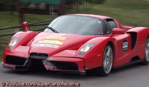 Crashed Ferrari Enzo
