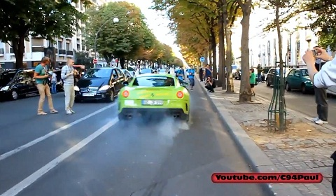 Ferrari 599 GTO Goes Crazy in Paris
