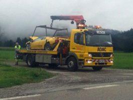 Lamborghini Diablo Wrecked in Germany