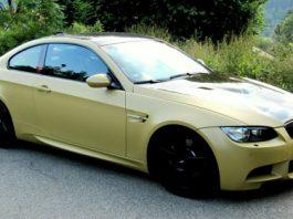 Matte Gold BMW M3 E92 by SR-Exclusive