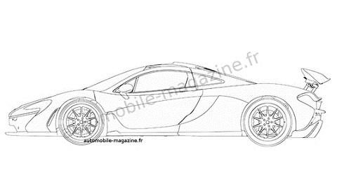 McLaren P1 Patent Drawings