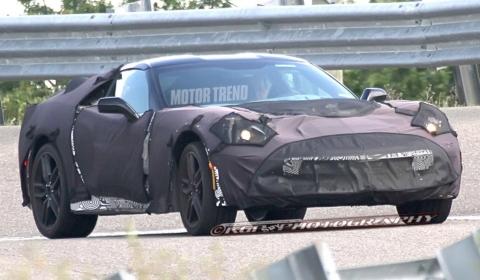 Spyshots 2014 Chevrolet Corvette C7 at GM Proving Grounds