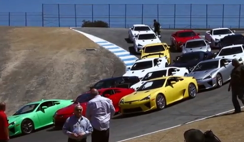 Video Lexus LFA Trackday at Laguna Seca Raceway
