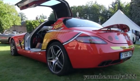 Video Mercedes-Benz SLS AMG Lightning McQueen with Akrapovic Exhaust