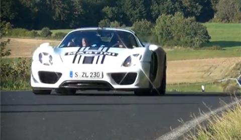 Video Porsche 918 Spyder Spotted near Nurburgring