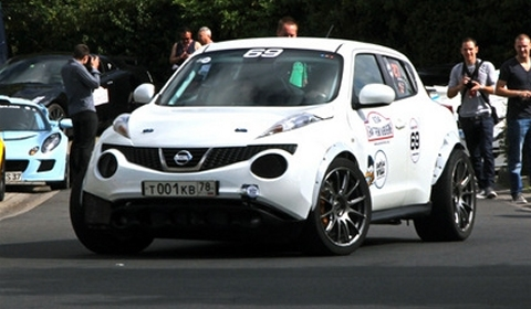 Video Russian Nissan Juke R with 800hp GT-R Engine at Nurburgring