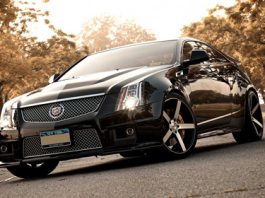 2012 Cadillac CTS-V Coupe on Vossen Wheels