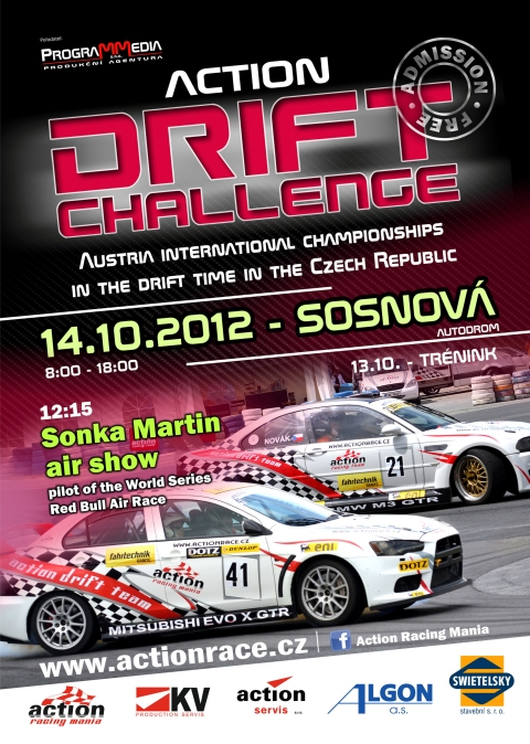 Action Drift Challenge Next Weekend at Sosnova Autodrom Czech Republic 01