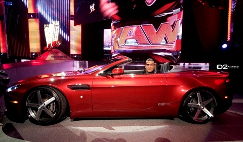Alberto Del Rio Aston Martin Vantage with D2 Forged Wheels
