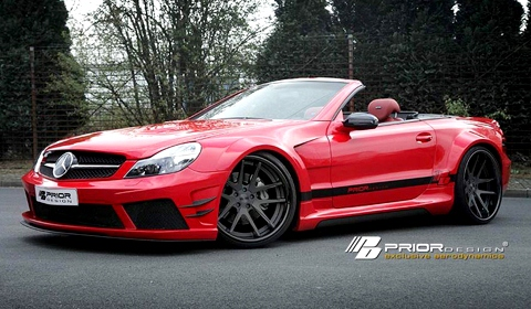 Black Edition V2 Widebody Mercedes Benz SL by Prior Design