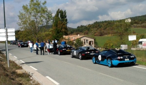 Eight Bugatti Veyron's Stopped in South of France