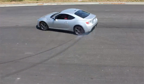 FR-S Owner Drifts Company Logo for Team Building Exercise
