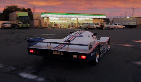 Japanese Man Drives a Porsche 962C on the Streets