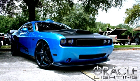 Mopar Dodge Challenger with dual Oracle halos
