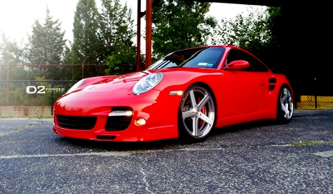 Porsche 997TT with D2 Forged CV2 wheels