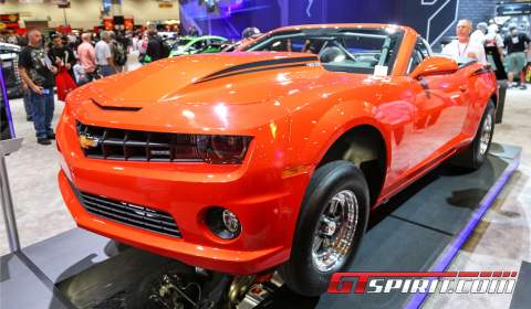 SEMA 2012 Inferno Orange Chevrolet COPO Camaro Convertible