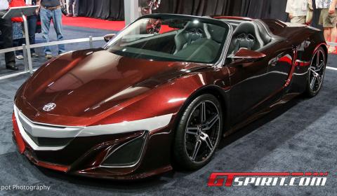 SEMA 2012 Tony Stark's Acura NSX Convertible Concept
