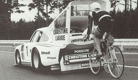The Bizarre Record Attempt With a Porsche And a Bike