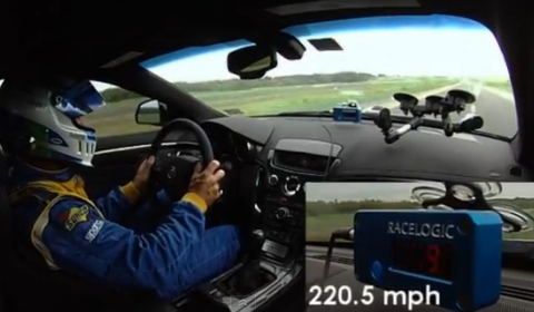 Video Hennessey CTS-V Coupe VR1200 Runs 220.5mph on Texas Toll Road