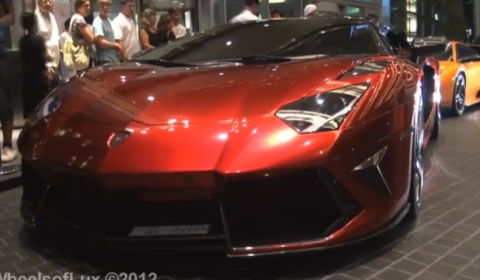 Video Mansory Aventador at the Dubai Mall