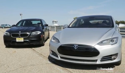 Video Tesla Model S Vs Bmw F10m M5 Drag Race Gtspirit