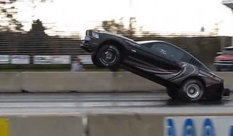 2013 Ford Mustang Cobra Jet Pulls a Wheelie